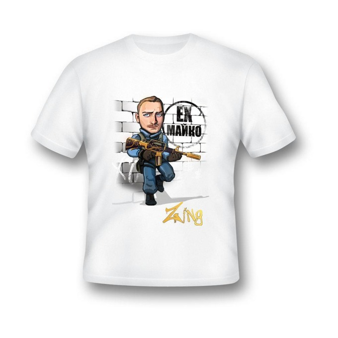 Тениска GplayTV Zing, разамер L, бяла image