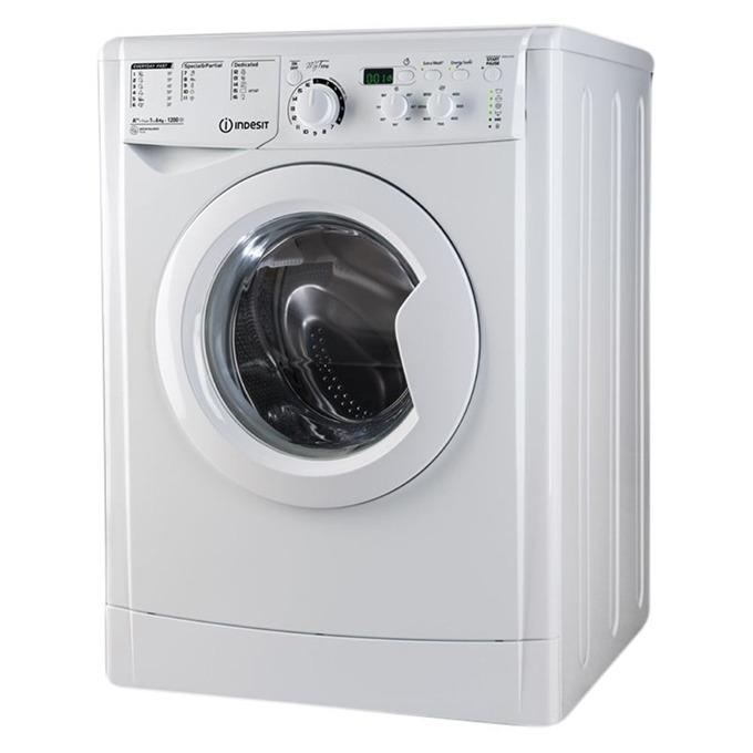 Перална машина Indesit EWSD 61252W, клас A++, 6 кг. капацитет, 1200 оборота в минута, 16 програми, свободностояща, 60 cm. широчина, Eco Time, LED дисплей, бяла image