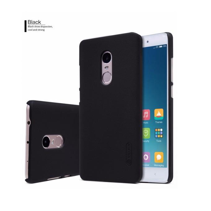 Калъф за Xiaomi Redmi Note 4, страничен протектор с гръб, пластмасов, Nillkin Redmi Note 4, противоударен, черен image