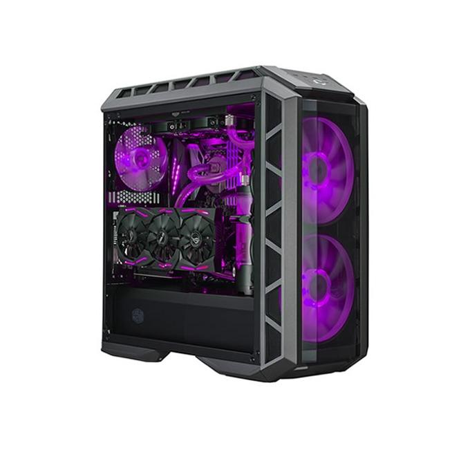 Кутия Cooler Master MasterCase H500P, E/ATX/mATX/miniITX, 2x USB 3.0, с темпериран прозорец, RGB програмируема LED подсветка, черна, без захранване image