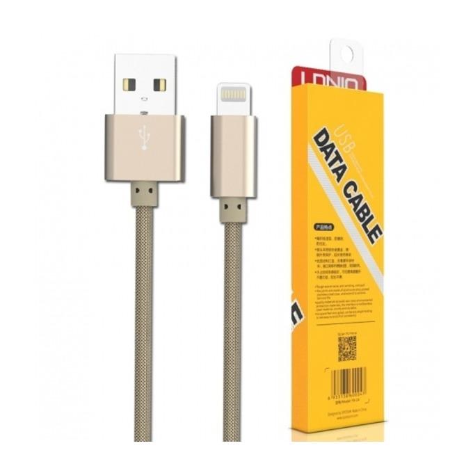 Кабел Ldnio LS08 SS000060, от USB A(м) към Lightning, 1m, златист image