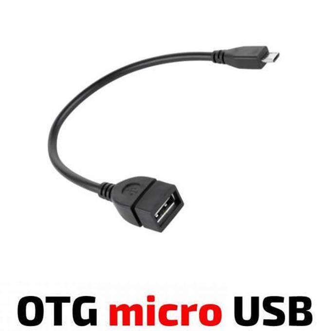Кабел Royal OTG USB Micro, от USB Type-A(ж) към USB Micro(м), 0.15м, черен image