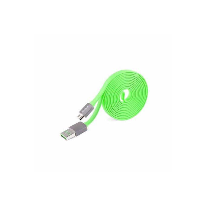 Кабел Yoobao, USB A (м) към USB Micro B (м), 0.8m, зелен image