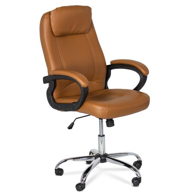 Директорски стол Carmen 6131, еко кожа, регулируем люлеещ механизъм, кафяв image