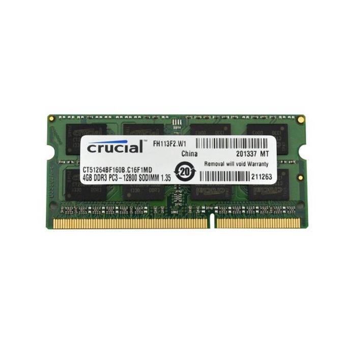 Памет 8GB DDR3L 1600MHz, SODIMM Crucial CT102464BF160B, 1.35V image