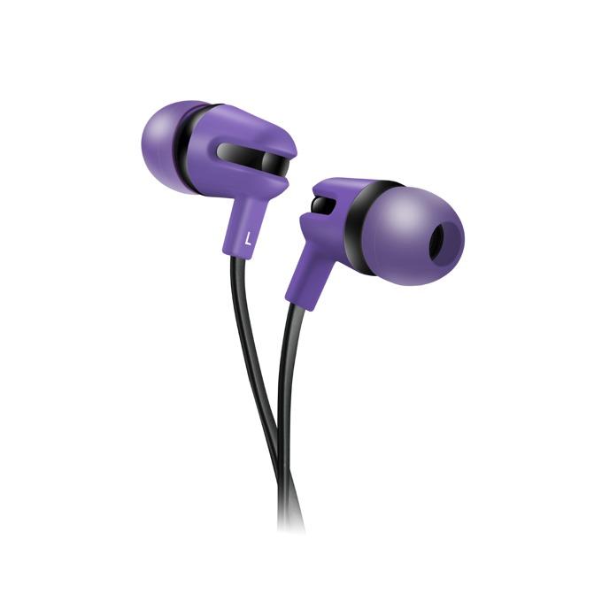 Слушалки Canyon CNS-CEP4P, микрофон, 1.2m плосък кабел, лилави image