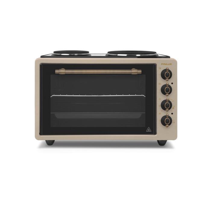 Готварска печка Finlux FMO-422VAN, ток, енергиен клас A, 2 брой нагревателни зони, 42 л. обем на фурната, механично управление, бежов image
