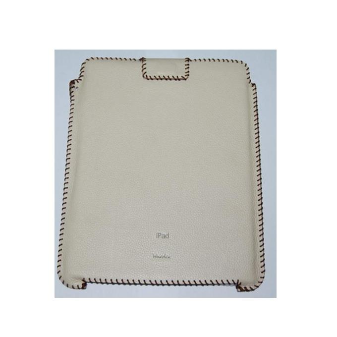 """Калъф """"джоб"""" HardCE iSoft, бежов, кожен (естествена кожа), за iPad (първо поколение) image"""