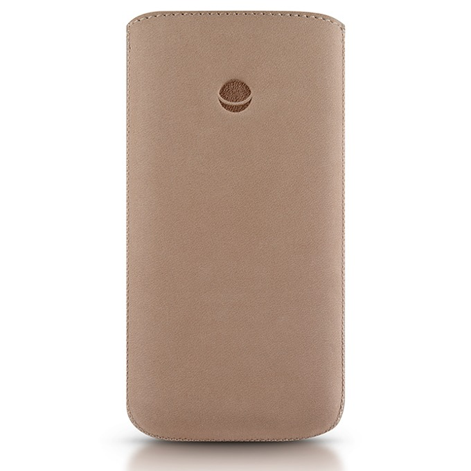 Калъф за Apple iPhone 5/5S/SE BEYZA RetroStrap Plus Leather Case, лента за вадене, кремав  image