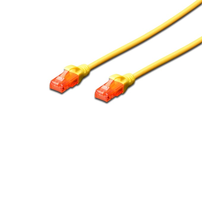 Пач кабел Assmann, UTP, Cat.6, 2m, жълт image