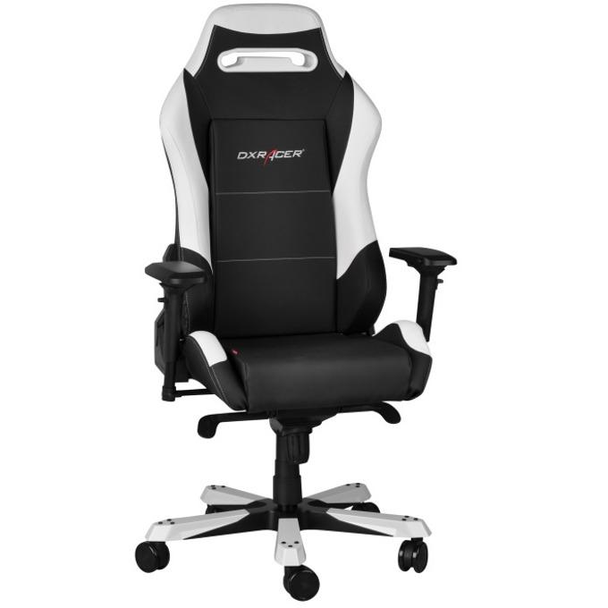Геймърски стол DXRacer Iron OH/IF11/NW, черен/бял image