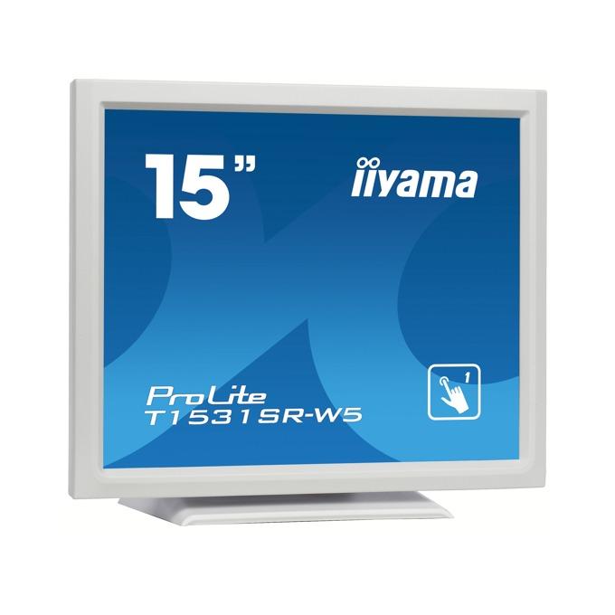 """Монитор Iiyama ProLite T1531SR-W5, 15"""" (38.1 cm), TN панел, XGA (1024x768), 8ms, 700:1, 300cd/m2, DP, HDMI, VGA image"""