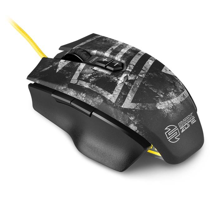 Мишка SHARKOON SHARK Zone M50, лазерна, 8200 dpi, USB, черна image