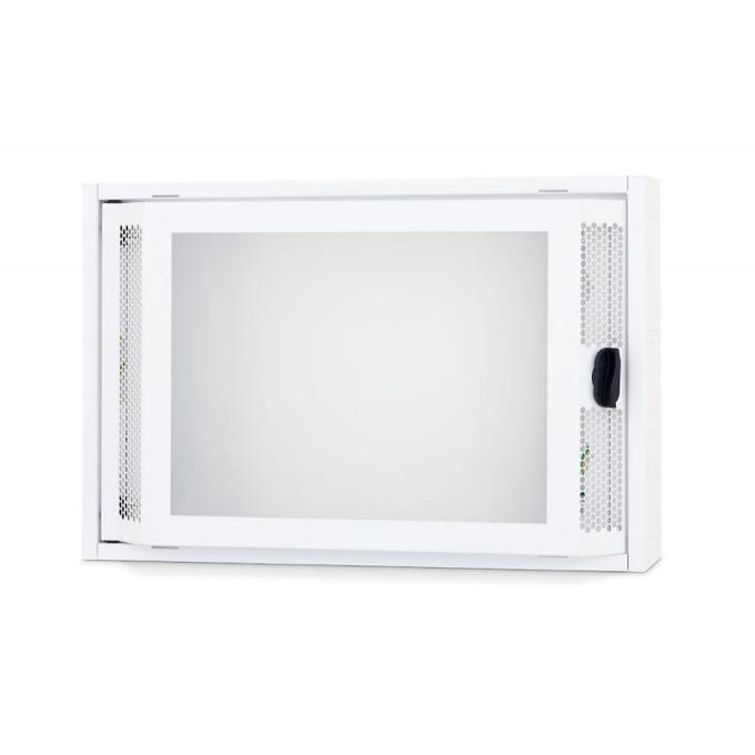 Комуникационен шкаф Triton RNA-02-A51-YXX-X1, 500 x 110 x 333 мм, предна стъклена врата, IP20 защита, бял image