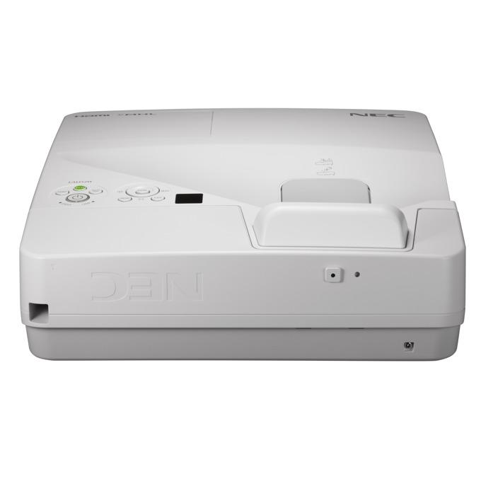 Проектор NEC UM352Wi-MT, LCD, WXGA (1280x800), 6000:1, 3500 lm, VGA, HDMI, RS232, RCA, USB, LAN, бял image