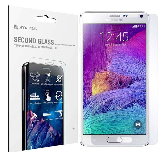 Протектор от закалено стъкло /Tempered Glass/ 4smarts Second Glass за Samsung Note 4, прозрачен image