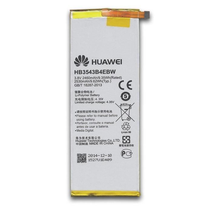 Батерия (оригинална) Huawei HB3543B4EBW за Huawei Ascend P7, 2460mAh/3.8V, Bulk image