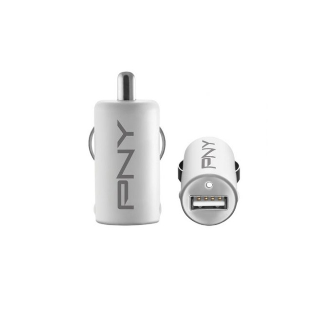 Зарядно за кола PNY 12V/USB, 5V/2100mA, бял image