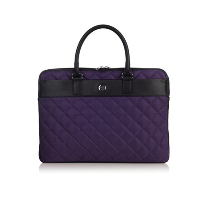 """Чанта за за лаптоп Knomo Avignon 13 X-slim Brief, до 13"""" (33.02 cm), дамска, кожена, лилава image"""