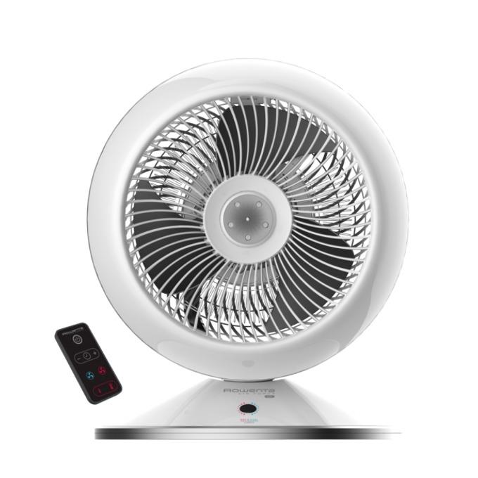 Вентилаторна печка Rowenta HQ7112F0, за помещения 40-45m², студен вентилатор, електронен термостат, дистанционно управление, таймер, 2600 W, бял image