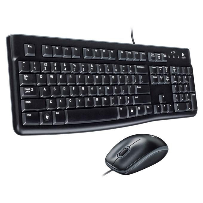 Logitech Desktop MK120, комплект клавиатура & мишка, черни, USB image