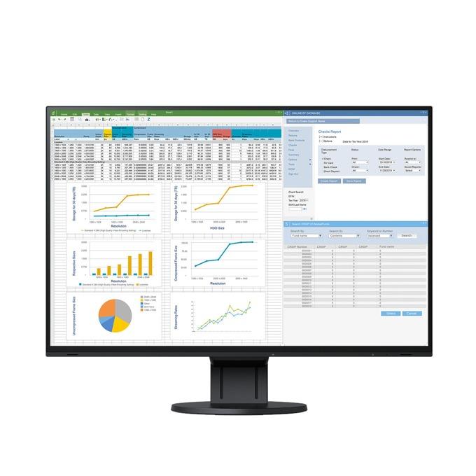 "Монитор Eizo FlexScan EV2457 (EV2457-BK), 24.1"" (61.21 cm) IPS панел, WUXGA, 5ms, 1000:1, 350 cd/m2, DisplayPort, HDMI, DVI-D image"