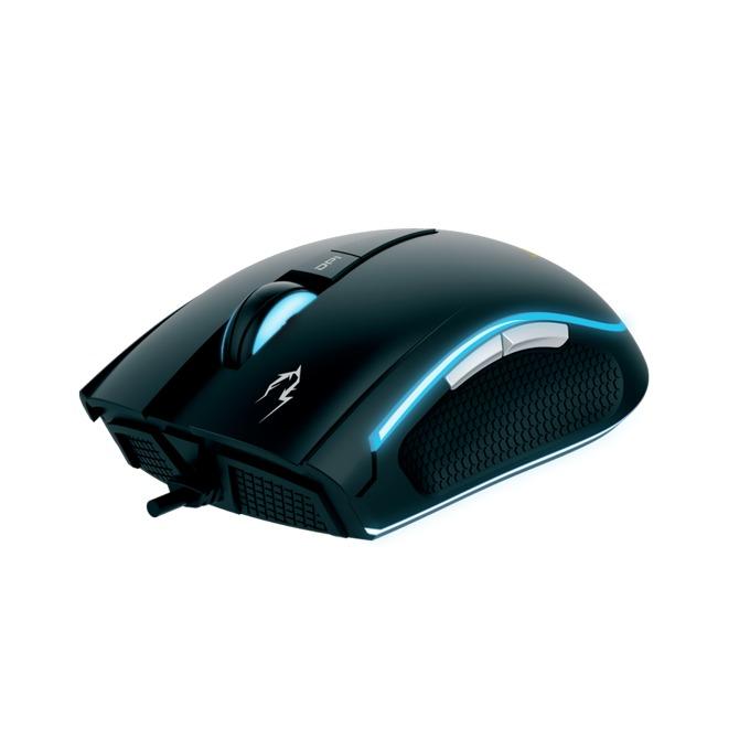 Мишка Gamdias ZEUS E1, оптична (3200 dpi), черна, USB, RGB подсветка, гейминг, с подложка NYX E1 image