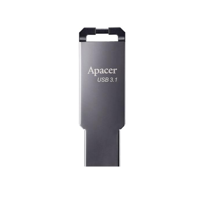 16GB USB Flash Drive, Apacer AH360, USB 3.1, сив image