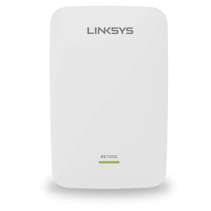 Extender/Екстендър Linksys RE7000, Max-Stream™ AC1900 Wi-Fi, 2.4 Ghz + 5 Ghz (N300 + AC1733) с Roaming функция, MU-MIMO, Dual Band image