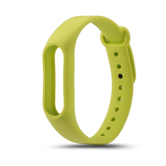 Силиконова гривна за Mi Band 2, само гривна, зелена image