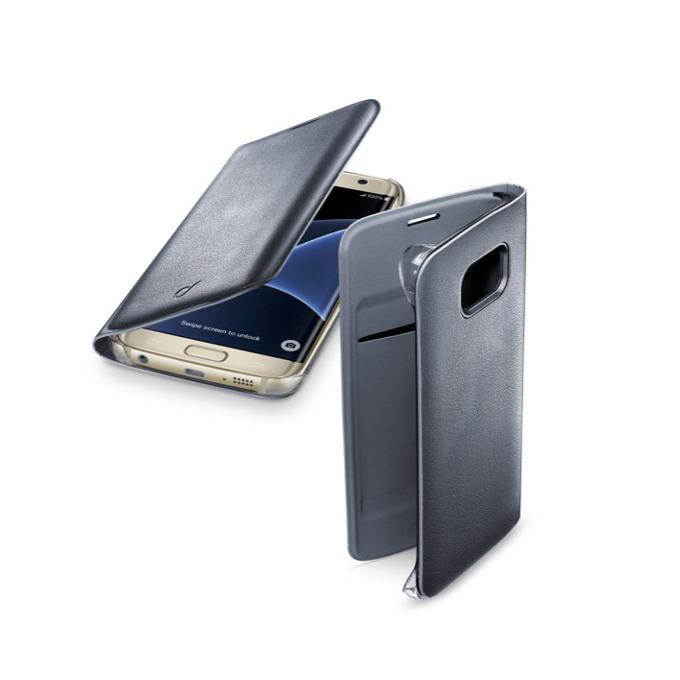 Калъф тип Flip Cover Cellular Line, еко кожа, за Samsung Galaxy S7 Edge, черен image