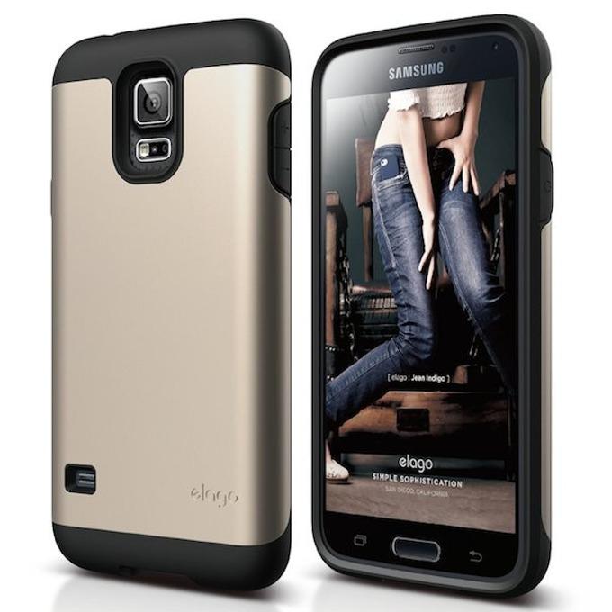 Удароустойчив протектор Elago-Duro Case за Samsung Galaxy S5 SM-G900, златист image