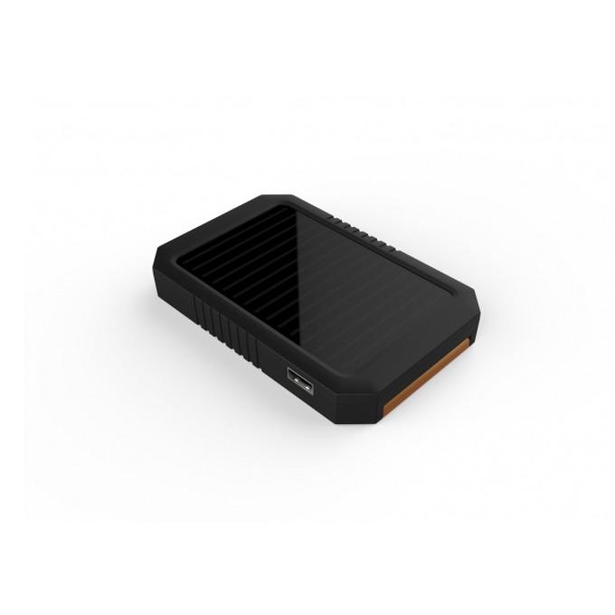 Bъншна батерия/power bank A-solar Magma AM116, 3000 mAh, USB изход, cоларна, черна image