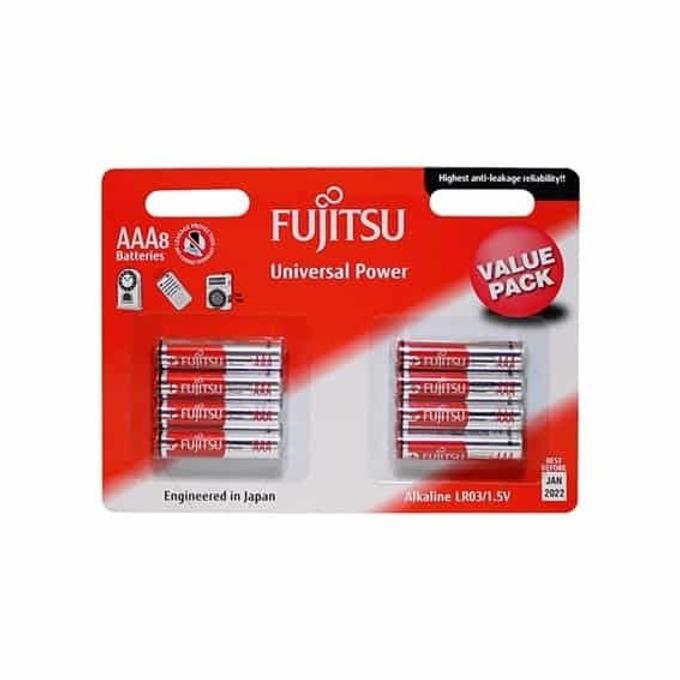 Батерии (алкална) Fujitsu universal power, AAA, BL8,1.5V, 8 бр. image
