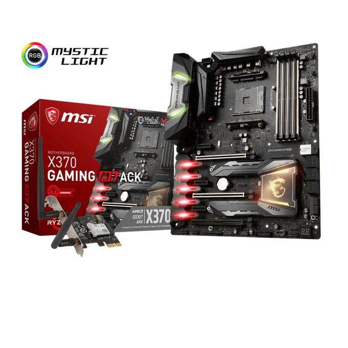Дънна платка MSI X370 GAMING M7 ACK, X370, DDR4, PCI-E(CF & Sli), 6 x SATA 6Gb/s, 2x M.2 Slot, 1x U.2, 6 x USB 3.1 Gen 1, ATX image