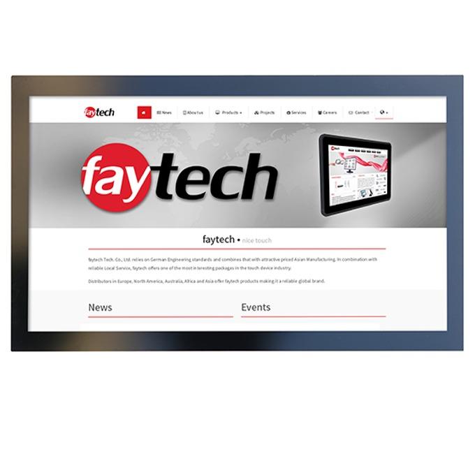 """Индустриален монитор FAYTECH FT32TMHDKOBHB, 31.5""""(80.01 cm), Full HD LED, VGA, HDMI, DVI-D, RS232 image"""