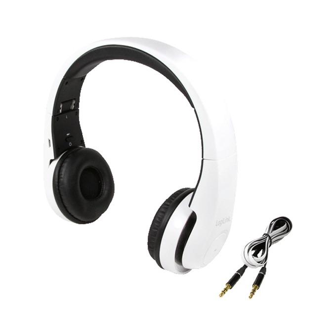 Слушалки LogiLink BT0017, Bluetooth 3.0, 15 часа време за работа, обхват до 10м, бели image