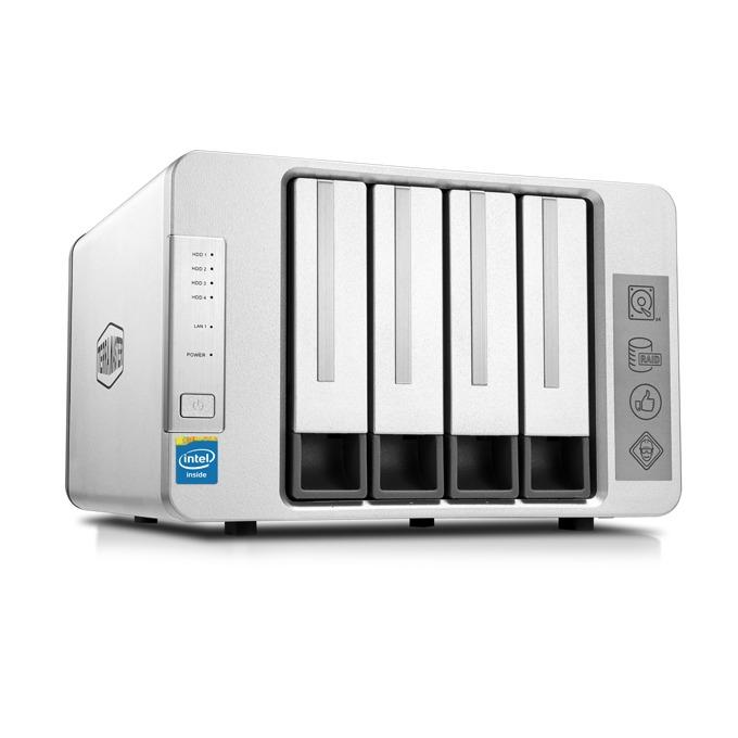 Мрежови диск (NAS) TerraMaster F4-220 (F4-220/4X2TB), двуядрен Intel Celeron J1800 2.41GHz/2.58GHz, 2 GB RAM, 4x 2TB Seagate NAS HDD, 1x RJ-45, USB 3.0, USB 2.0, Tower image