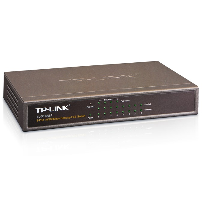 Switch TP-Link TL-SF1008P 100Mbs 8Port PoE