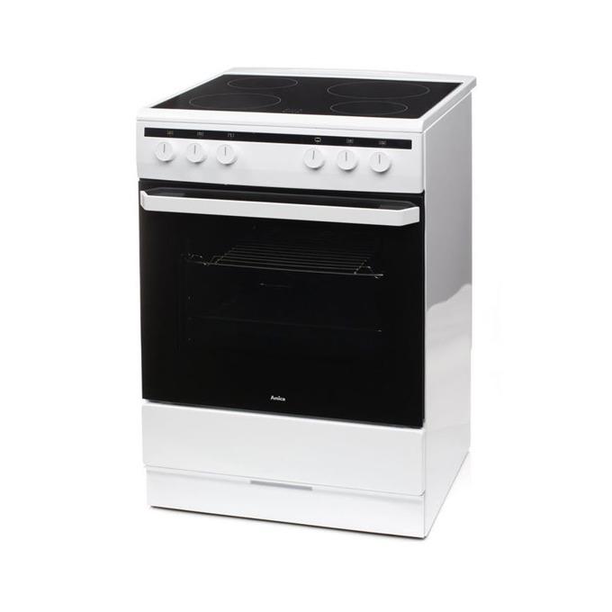 Готварска печка Amica 6018CE2.30EHW, ток, клас А, 62 л. обем, 4 нагревателни зони, 8 функции на фурната, бяла image