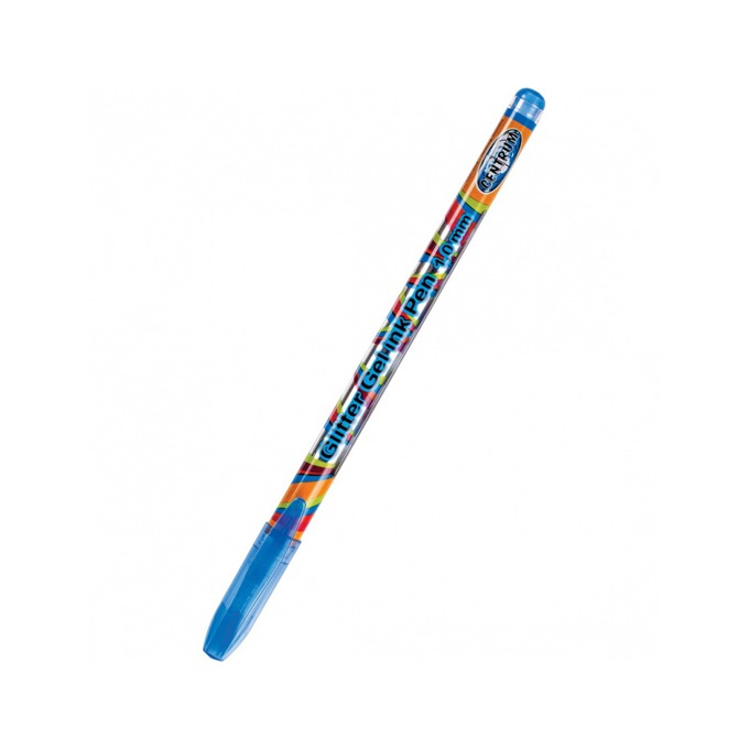 Химикалка Centrum Gliter, различни цветове на писане,1.0 mm, различни цветове, гел, с брокат, цената е за 1бр. (продава се в опаковка от 48 бр.) image