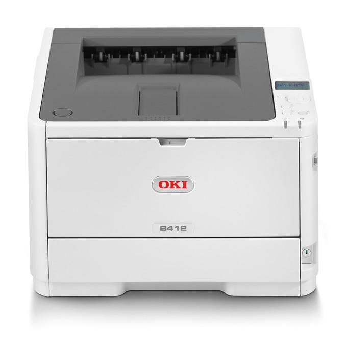 LED принтер OKI B412dn, монохромен, 1200 x 1200 dpi, 33 стр/мин, LAN100, USB, A4 image