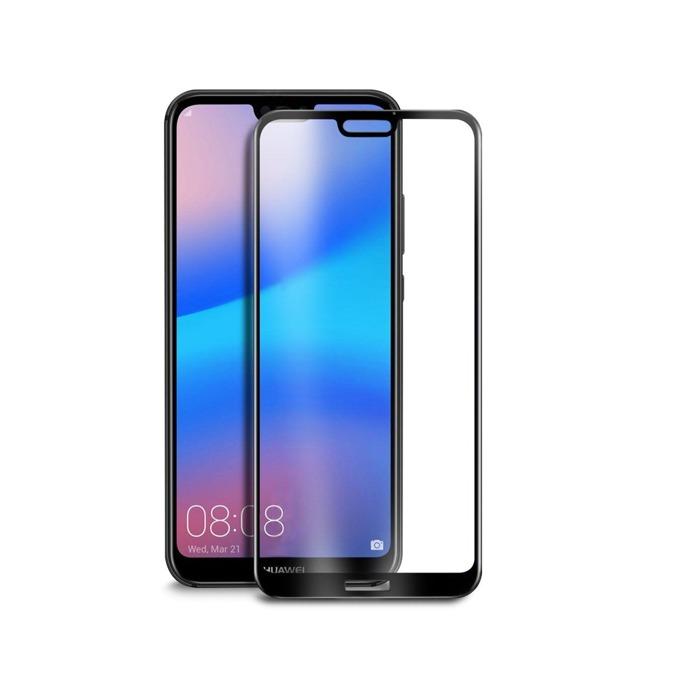 Протектор от закалено стъкло /Tempered Glass/ DeTech, За Huawei P20, 3D Full glue, 0.3mm, черен image