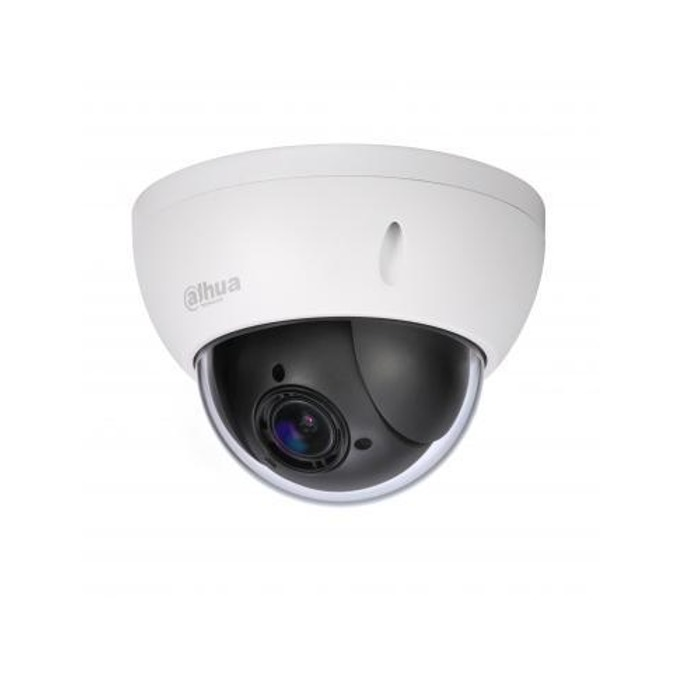 IP камера Dahua SD22204T-GN, куполна, PTZ, 2 Mpix(1920x1080@25FPS), 2.7mm~11mm обектив, H.264+/H.264/MJPEG, PoE, вандалоустойчива IK10, IP66 защита от вода, RJ-45 image