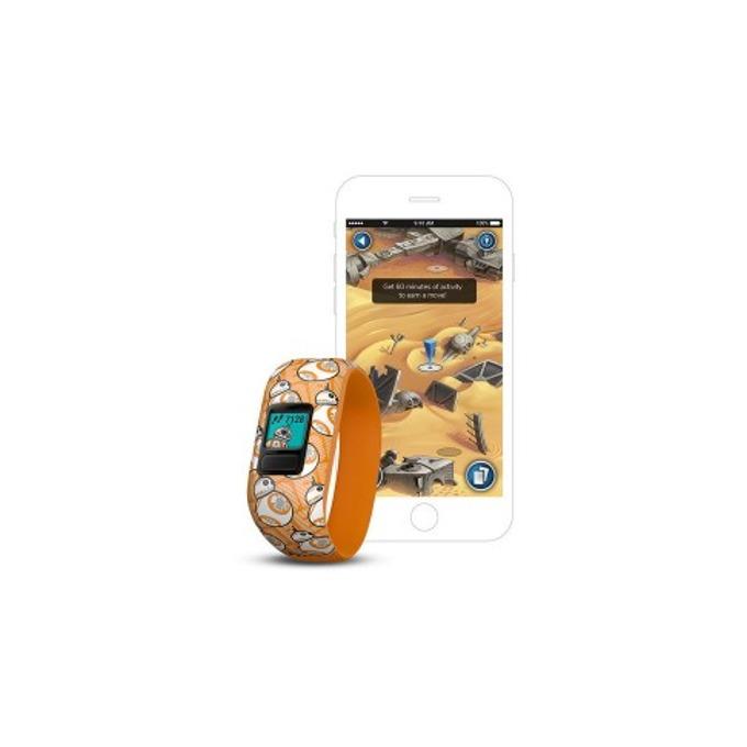 Смарт гривна Garmin vívofit® jr. 2, активити тракер за деца, 88x88 pix. дисплей, Bluetooth, водоустойчива, жълт(BB-8) image