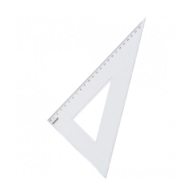 Триъгълник Centrum, правоъгълен, 23cm, бял image