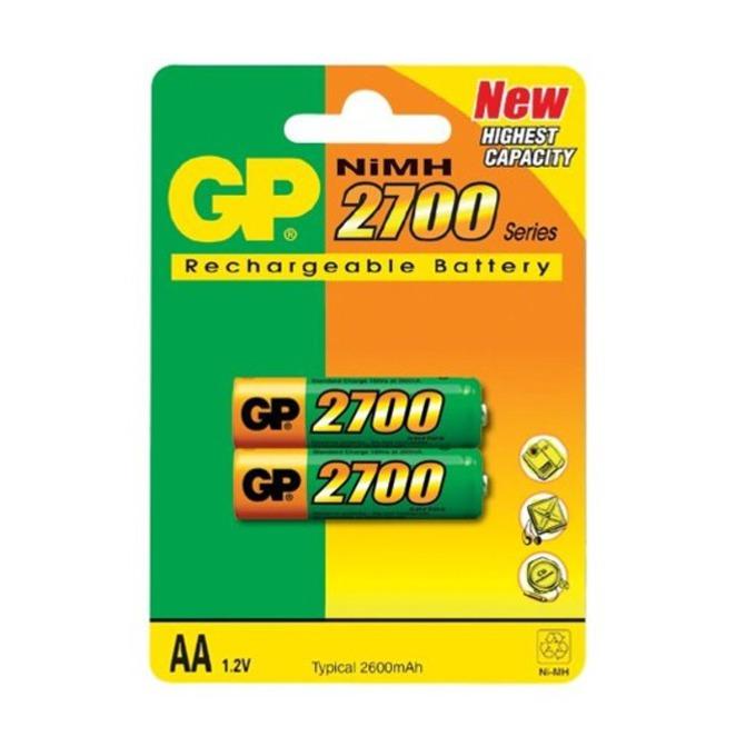 Акумулаторна Батерия GP NiMH R6/AA, 1.2V, 2700mAh, 2 бр. GP270AAHC  image