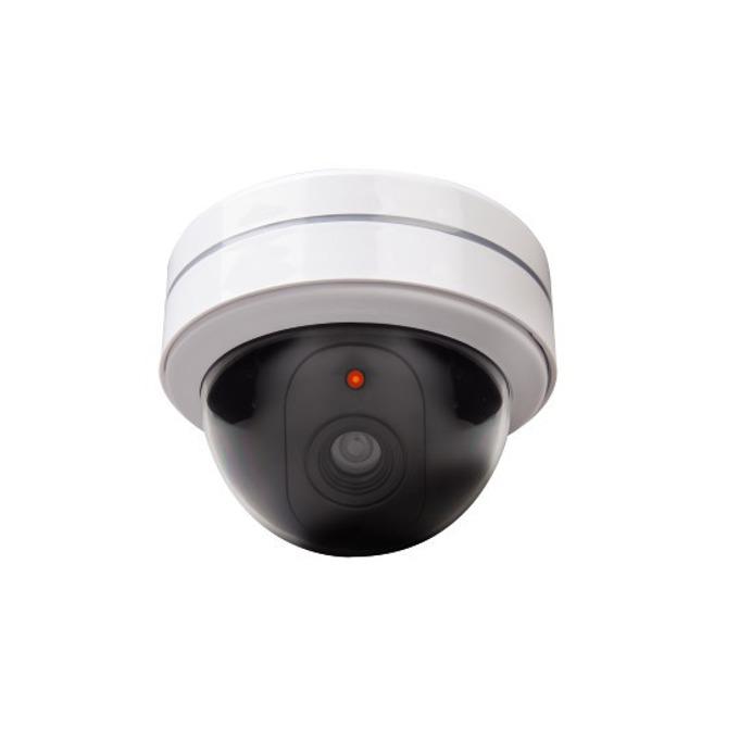 Макет Xavax Surveillance Camera Dummy 111992, имитира куполна охранителна камера, червена мигаща LED светлина, с батерии image