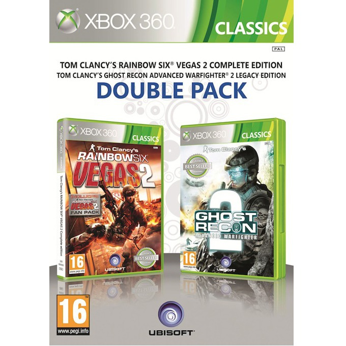 Игра за конзола Ghost Recon: Advanced Warfighter 2 + Rainbow Six: Vegas 2 (пакет 2 в 1), за XBOX360 image