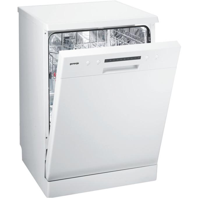 Съдомиялна Gorenje GS 62115 W, клас A++, 12 комплекта, 6 програми, 5 температури, QuickIntensive, самопочистващ се филтър, аква стоп, бяла image